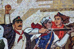 Foto Albania Mosaico comunista